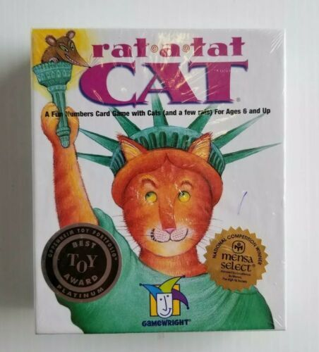 Primary image for Rat A Tat Cat Fun Numbers Card Game With Cats Rats Ages 6 And Up New Sealed 2003