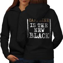 Coffee The New Black Sweatshirt Hoody Funny Women Hoodie Back - $21.99+