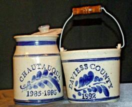 Daviess County Westerwald Stoneware Chautauqua Crock & Bowl AA-191835