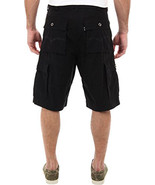 NEW LEVI'S MEN'S LOOSE FIT BELTED SQUAD CARGO SHORTS BLACK #8083 ALL SIZES - $37.99