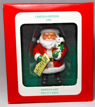Enesco Long's Drug Stores - Santa's List - Series 1st - 1995 Holiday Orn... - $12.16