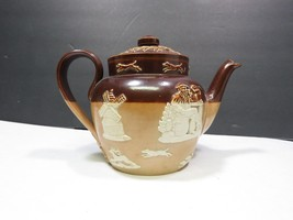 Antique Royal Doulton Lambeth Brown and Beige Salt-glazed Teapot tea pot - $47.52