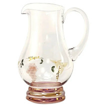 Handcrafted Lead-free Crystal Pitcher from Romania Georgio Collection 24... - $42.99