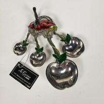 LA CUCINA BY GANZ Measuring Spoons Enameled Apple Basket NWT - $20.53