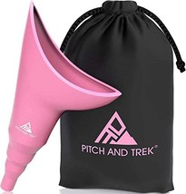 Pitch and Trek Female Urinal - Travel Urination Device & Pee Funnel for Women -  - $24.00