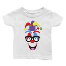 Ann Gertrude Short Sleeve Tee Infant/Toddler Clown Face (Blk Glasses & P... - $28.00
