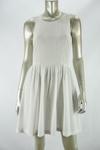 JOIE Porcelain White/Black 100% Silk BERNADINE Sleeveless Dress NWT MEDIUM - $54.87