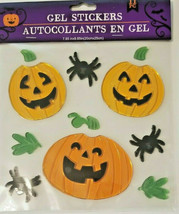 Halloween Gel Window Cling Stickers 11 Count ~ Spiders Jack-O-Lanterns  w - £4.20 GBP