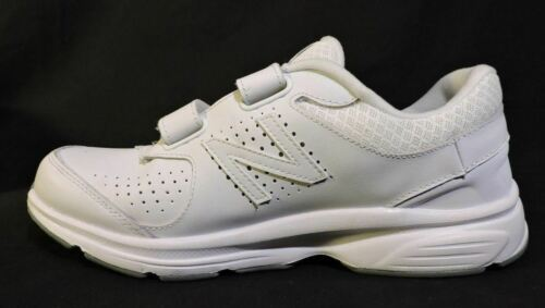 NWOB Mens New Balance 411 sneakers 7.5 D White Leather No Lace Easy ON NEW shoes image 2