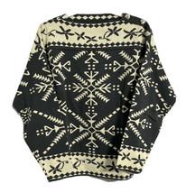 Vintage Obermeyer Ski Sweater Rare Women's Wool Blend Heart Buttons Medi... - $61.70