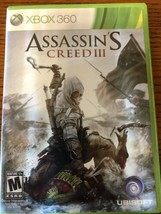 Assassins Creed III [3] Xbox 360 2 Disc Set Pre Owned - $7.22