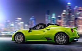 2017 Alfa Romeo 4c lime 24X36 inch poster, sports car - $18.99