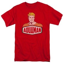 Aquaman Red T-shirt Super Friends retro superhero DC Comics graphic tee DCO625 image 2