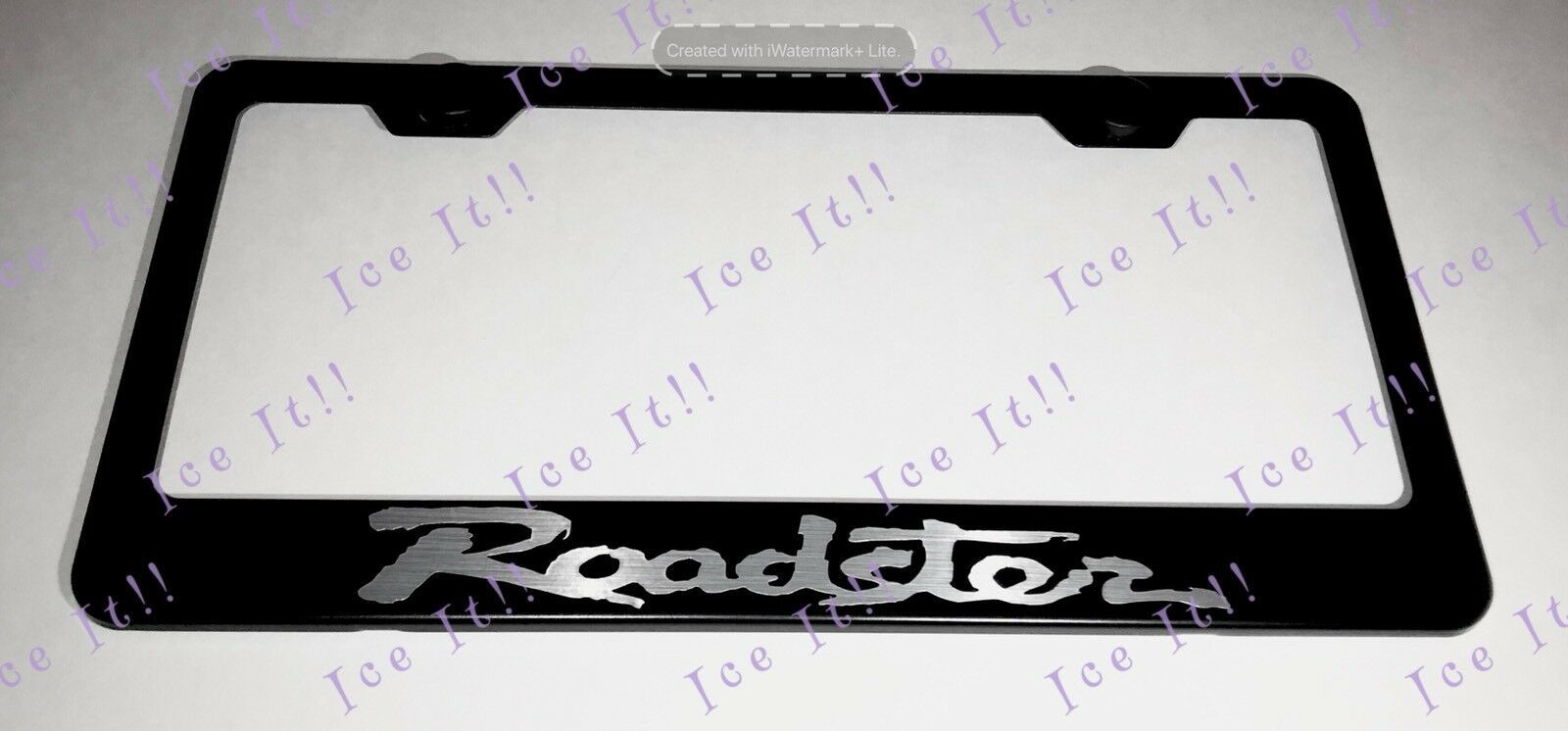 Mazda Roadster MX-5 Miata Steel Black License Plate Frame Rust Free Caps - $13.37