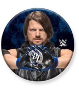 "1.25""  Licensed Pinback Button Badge WWE AJ Styles 1¼"" Pins (Approx. 32mm) - $1.95"