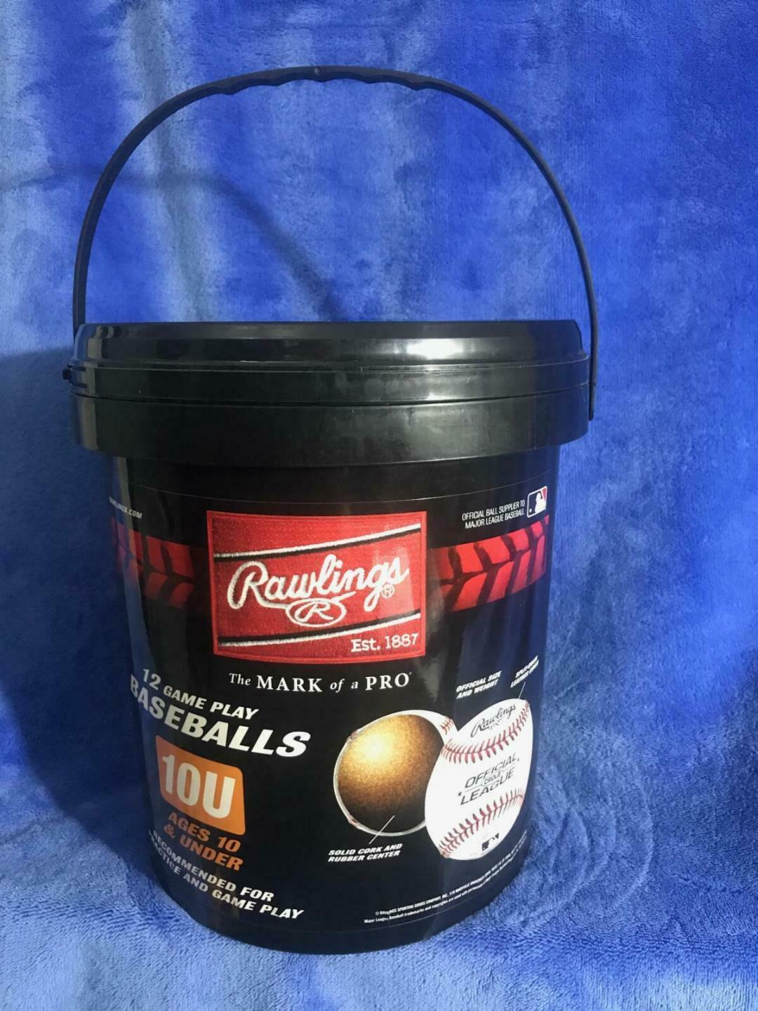 Primary image for Rawlings Bucket of Official League Youth Baseballs Dozen CROLB 10U FREE SHIPPING