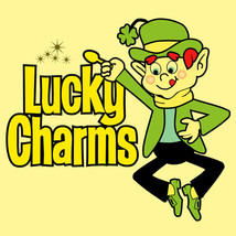 Lucky Charms T shirt classic 70s 80s cereal brand retro graphic 100% cotton tee image 1