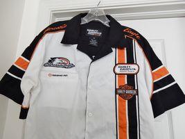 Harley-Davidson Racing Screamin' Eagle Garage Shirt Top S/S Cotton Blend Size M image 3