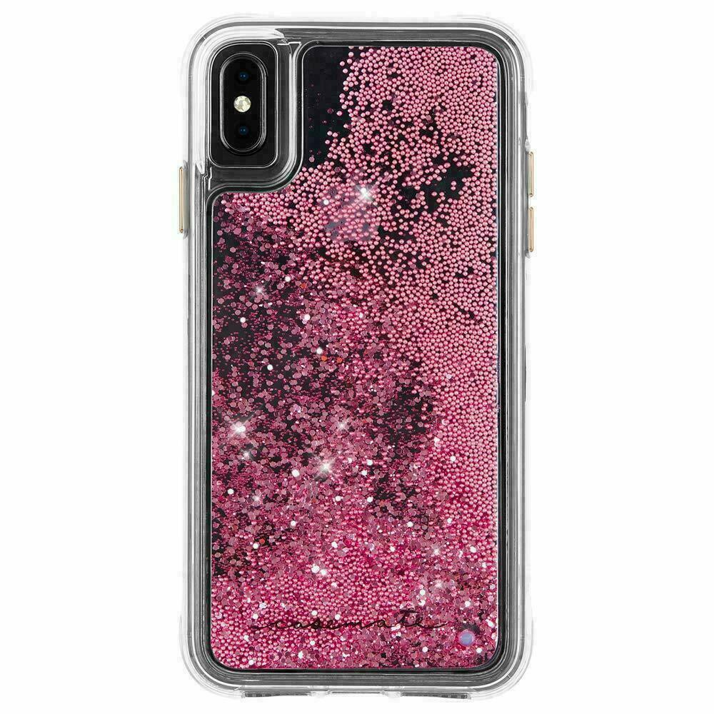 Case-Mate iPhone X Rose Gold Waterfall Clear Plastic Protective Phone Case NEW