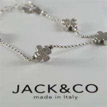 Silver Bracelet 925 Jack&co with Four-Leaf Clover and Zircon Cubic JCB0742 image 3