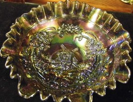 Vintage Imperial Carnival Glass Windmill Three In One Edge Smoke Purple ... - $35.66