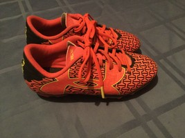 Under Armour Force cleats Size 1Y soccer softball baseball orange black shoe - $22.29