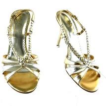 BCBG Paris Women's Dress Sandal Bahari Two-Tone Gold Leather Size 8.5 - ... - $31.29