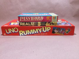 BUNDLE Vintage Board Games Password, Realm, Uno... - $32.73