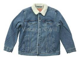 Levis Mens XL Blue Youngstown Classic Sherpa Denim Jean Trucker Jacket R... - $121.60