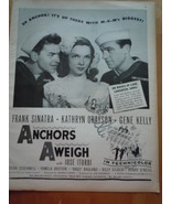 Vintage Anchors Aweigh Frank Sinatra Gene Kelly Movie Print Magazine Ad ... - $9.99