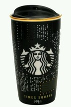 New Starbucks Times Square NYC Ltd. Edition Traveler Tumbler Ceramic Mug - $33.35