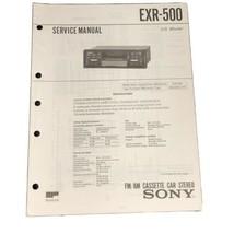 Sony AM-FM-Stereo Cassette Player EXR-500 OEM Service Manual - $9.99