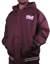 Hall of Fame 2ND Second Sucks Sideline Burgundy Giacca Parka con Cappuccio Nwt