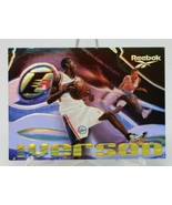 "Alan Iverson ""The Answer"" Reebok Skybox 1997 Promo Card - $5.91"