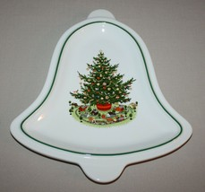 Bell Shaped Plate Pfaltzgraff Christmas Heritage Appetizer Tray Tree Train - $6.88