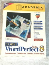 WordPerfect Suite 8 PC CD ROM Windows Word Perfect Corel Academic Edition - $18.55