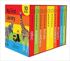 My First Library : Boxset of 10 Board Books for Kids - $25.00
