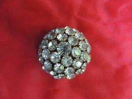 Vintage Beautiful Warner Rhinestone Domed Brooch - $45.99