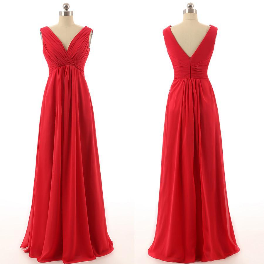 red bridesmaid dress,long bridesmaid dress,cheap bridesmaid dresses
