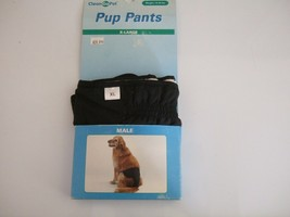 NEW OLD STOCK   CLEAN GO PET  MALE DOG PUP PANTS ~ X-LARGE ~ FITS 75-95... - $14.36