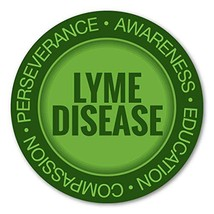 Crazy Novelty Guy Magnet, Round Magnet, Lyme Disease Awareness and Suppo... - $6.99