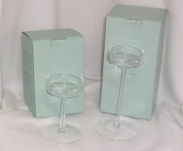 """PartyLite Elegance Stemmed Pillar Holder Pair 6"""" and 9"""" P9378 and P9377 Two - $14.95"""