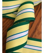"""1.5"""" green, yellow and white grosgrain ribbon - $0.75"""