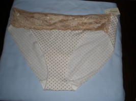 NWT Soma VE COTTON LACE HIPSTER  MOD  DOT IVORY  SOFT TAN   SIZE  PANTY  XL - $11.87