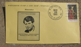Commemorative cover Robert Kennedy WESPNEX Westchester stamp and coin sh... - $4.93