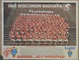 1984  University of Wisconsin BADGERS Football Team Poster - $14.99