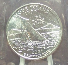 2001-P Rhode Island State Quarter MS65 in the Cello #512 - $1.59