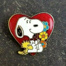 SNOOPY Valentine Heart Love Woodstock PEANUTS Charlie Brown Comic Lapel ... - $17.99
