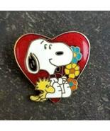 SNOOPY Valentine Heart Love Woodstock PEANUTS Charlie Brown Comic Lapel ... - $17.99