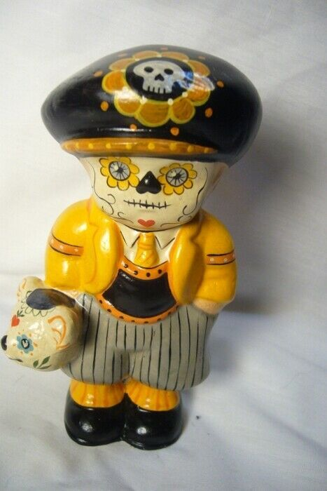 Vaillancourt Folk Art Day of the Dead Boy Personally signed by Judi!